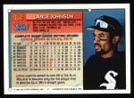1994 Topps #452  Lance Johnson  Back Thumbnail