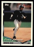 1994 Topps #452  Lance Johnson  Front Thumbnail