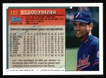 1994 Topps #192  Lou Frazier  Back Thumbnail