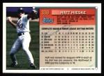 1994 Topps #339  Matt Mieske  Back Thumbnail