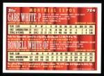 1994 Topps #784  Rondell White  /  Gabe White  Back Thumbnail