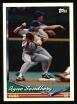 1994 Topps #300  Ryne Sandberg  Front Thumbnail