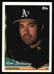 1994 Topps #549  Ron Darling  Front Thumbnail