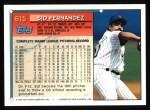 1994 Topps #615  Sid Fernandez  Back Thumbnail