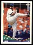 1994 Topps #615  Sid Fernandez  Front Thumbnail