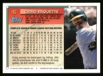 1994 Topps #46  Craig Paquette  Back Thumbnail