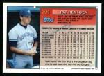1994 Topps #304  Pat Hentgen  Back Thumbnail