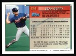 1994 Topps #344  Sean Berry  Back Thumbnail