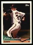 1994 Topps #213  John Burkett  Front Thumbnail