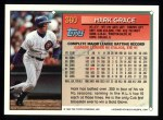 1994 Topps #360  Mark Grace  Back Thumbnail