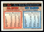 1994 Topps #387   -  Cal Ripken  /  Jeff Blauser All-Star Back Thumbnail