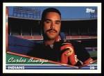 1994 Topps #450  Carlos Baerga  Front Thumbnail