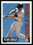 1994 Topps #603   -  Wade Boggs Measures of Greatness Front Thumbnail
