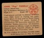 1950 Bowman #75  John Panelli  Back Thumbnail