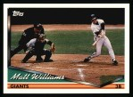 1994 Topps #550  Matt Williams  Front Thumbnail