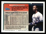 1994 Topps #511  Devon White  Back Thumbnail