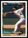1994 Topps #465  Dennis Eckersley  Front Thumbnail