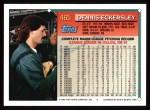 1994 Topps #465  Dennis Eckersley  Back Thumbnail