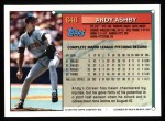 1994 Topps #648  Andy Ashby  Back Thumbnail