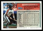 1994 Topps #153  Chris Donnels  Back Thumbnail