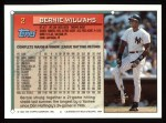 1994 Topps #2  Bernie Williams  Back Thumbnail