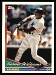 1994 Topps #2  Bernie Williams  Front Thumbnail