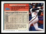 1994 Topps #273  Sandy Alomar Jr.  Back Thumbnail