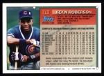 1994 Topps #119  Kevin Roberson  Back Thumbnail