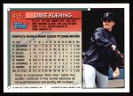 1994 Topps #415  Dave Fleming  Back Thumbnail