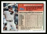 1994 Topps #383  Gerald Williams  Back Thumbnail