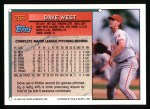 1994 Topps #266  Dave West  Back Thumbnail