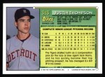 1994 Topps #313  Justin Thompson  Back Thumbnail