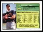 1994 Topps #194  Javier Lopez  Back Thumbnail