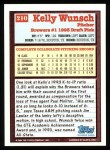 1994 Topps #210  Kelly Wunsch  Back Thumbnail