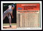 1994 Topps #440  Dennis Martinez  Back Thumbnail