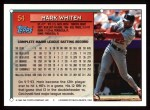 1994 Topps #54  Mark Whiten  Back Thumbnail