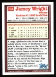 1994 Topps #744  Jamey Wright  Back Thumbnail