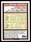 1994 Topps #205  Brooks Kieschnick  Back Thumbnail