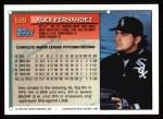 1994 Topps #599  Alex Fernandez  Back Thumbnail