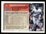 1994 Topps #66  Tom Gordon  Back Thumbnail