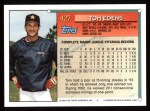 1994 Topps #427  Tom Edens  Back Thumbnail