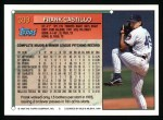 1994 Topps #399  Frank Castillo  Back Thumbnail