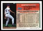 1994 Topps #575  Randy Myers  Back Thumbnail