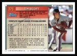1994 Topps #373  Tim Scott  Back Thumbnail