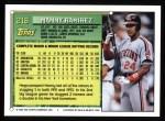1994 Topps #216  Manny Ramirez  Back Thumbnail