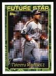 1994 Topps #216  Manny Ramirez  Front Thumbnail
