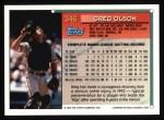 1994 Topps #346  Greg Olson  Back Thumbnail
