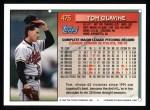 1994 Topps #475  Tom Glavine  Back Thumbnail