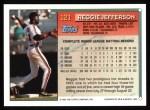 1994 Topps #121  Reggie Jefferson  Back Thumbnail