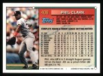 1994 Topps #408  Phil Clark  Back Thumbnail